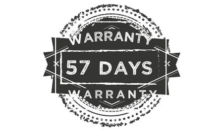 57 days warranty illustration design stamp badge icon