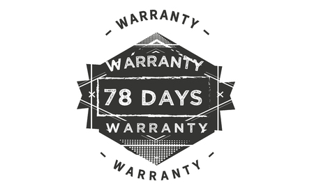 78 days warranty illustration design stamp badge icon