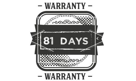 81 days warranty illustration design stamp badge icon Illustration