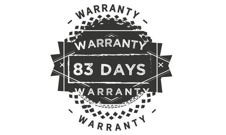 83 days warranty illustration design stamp badge icon Illustration