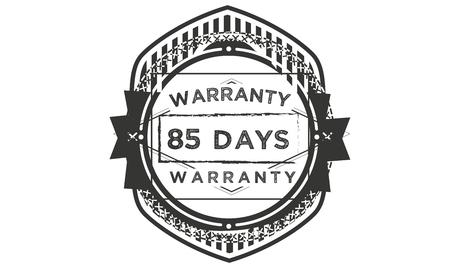 85 days warranty illustration design stamp badge icon