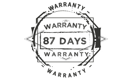 87 days warranty illustration design stamp badge icon