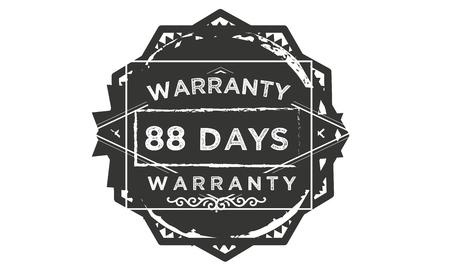 88 days warranty illustration design stamp badge icon Illustration