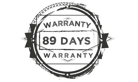 89 days warranty illustration design stamp badge icon