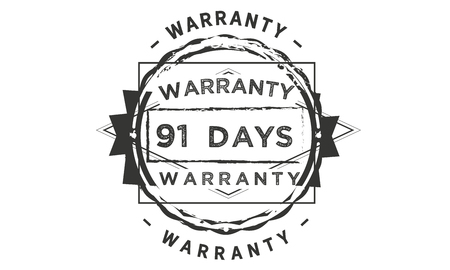 91 days warranty illustration design stamp badge icon