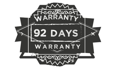 92 days warranty illustration design stamp badge icon Illustration