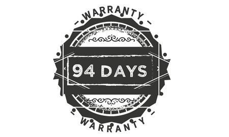 94 days warranty illustration design stamp badge icon