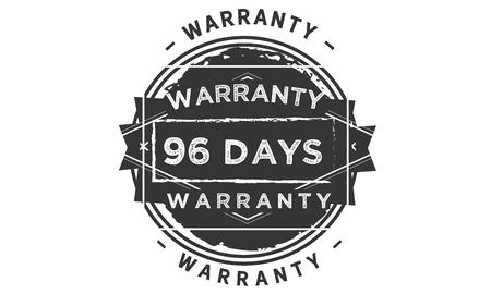 96 days warranty illustration design stamp badge icon