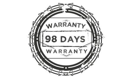 98 days warranty illustration design stamp badge icon
