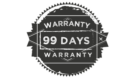 99 days warranty illustration design stamp badge icon Illustration