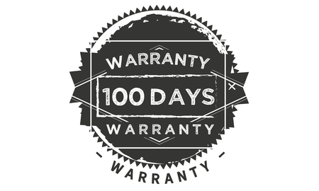 100 days warranty illustration design stamp badge icon