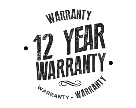 12 year warranty illustration design Illustration