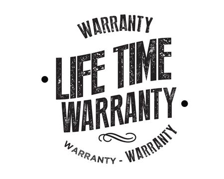 lifetime warranty illustration design