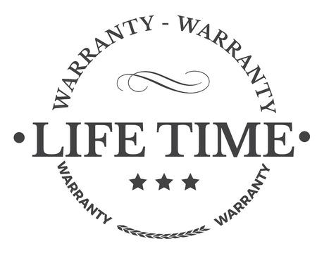 lifetime warranty illustration design stamp Illustration