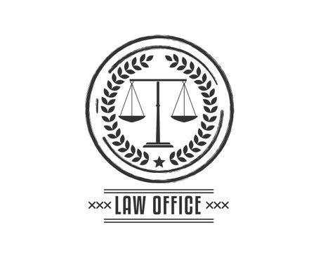 law office icon logo Ilustração