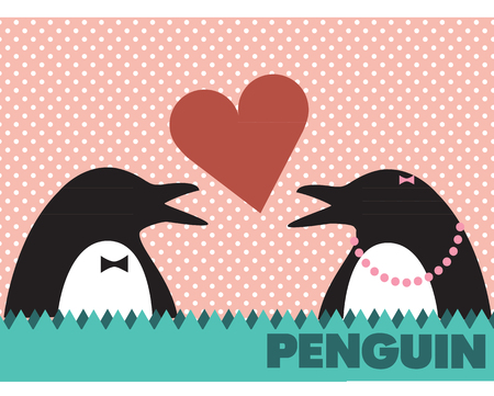 couple penguin icon vector Stock Photo - 113191926