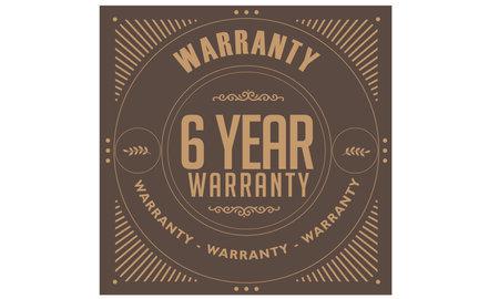 6 year warranty illustration design