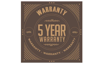 5 year warranty illustration design Ilustração