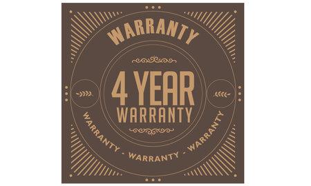 4 year warranty illustration design