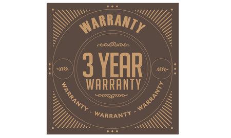 3 year warranty illustration design Ilustração
