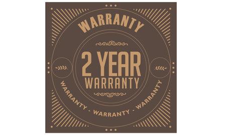 2 year warranty illustration design