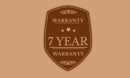 7 year warranty design stamp Illustration