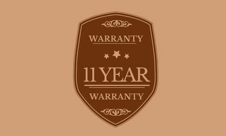 11 year warranty illustration design