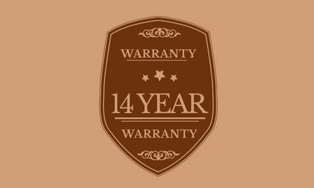 14 year warranty illustration design