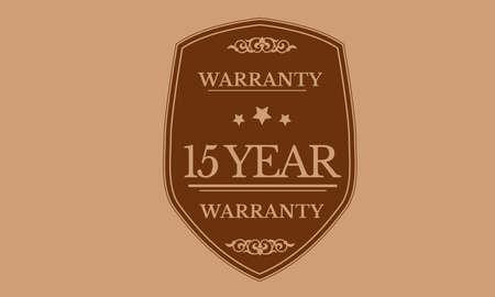 15 year warranty illustration design Ilustração