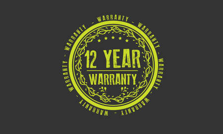 12 year warranty illustration design Ilustração