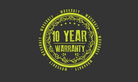 10 year warranty illustration design