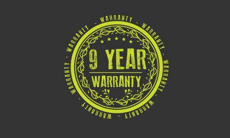 9 year warranty illustration design Ilustração
