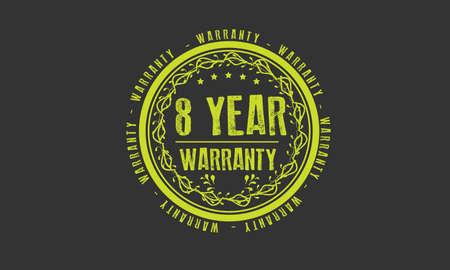 8 year warranty illustration design