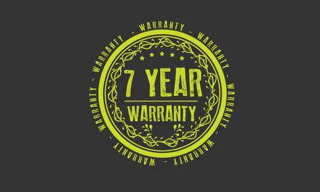 7 year warranty illustration design
