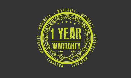 1 year warranty illustration design Ilustração