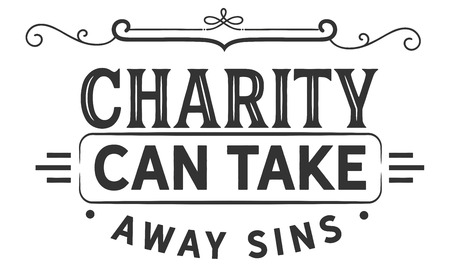 charity can take away sins Illustration