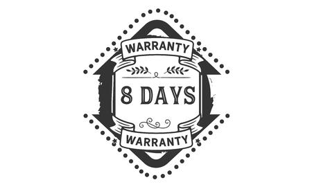 8 days warranty illustration design stamp badge icon Banque d'images - 113145852