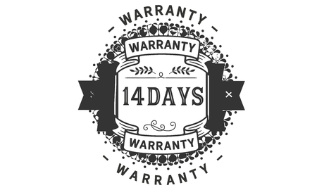 14 days warranty illustration design stamp badge icon