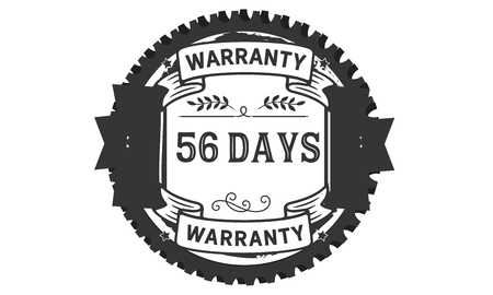 56 days warranty illustration design stamp Ilustrace