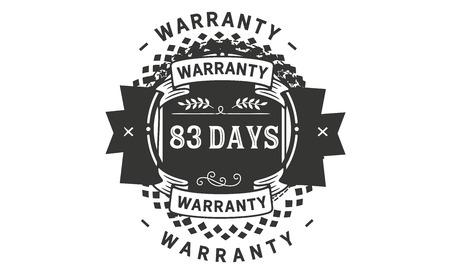 83 days warranty illustration design Ilustrace