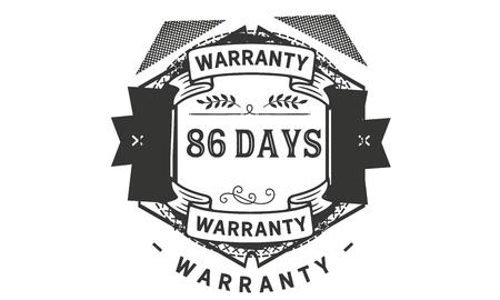 86 days warranty illustration design Ilustrace