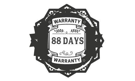 88 days warranty illustration design Ilustrace