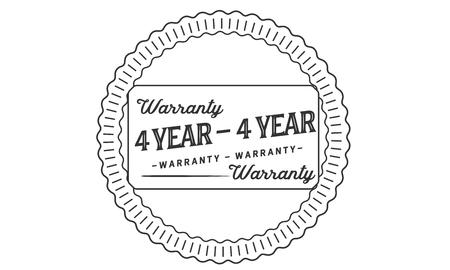 4 year warranty illustration design stamp Banque d'images - 112803927