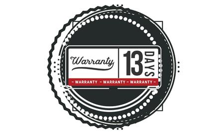 13 days warranty illustration design Illusztráció