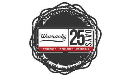 25 days warranty illustration design
