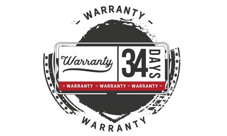 34 days warranty illustration design Illusztráció