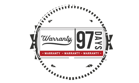 97 days warranty illustration design stamp badge icon
