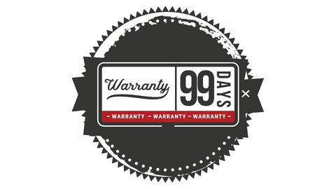 99 days warranty illustration design stamp badge icon Ilustrace
