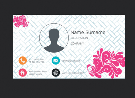 modern name card business company