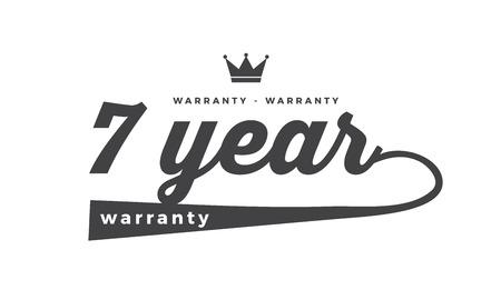 7 year warranty illustration design stamp